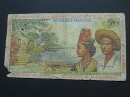 RARE  50 Francs 1964 - Département De La Guadeloupe, De La Guyane, De La Martinique   **** EN ACHAT IMMEDIAT **** - Guyana Francesa