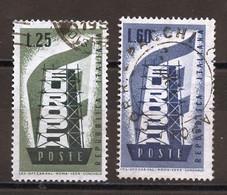 Europa CEPT 1956 Italie - Italy - Italien Y&T N°731 à 732 - Michel N°973 à 974 (o) - 1956