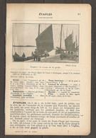 1923 ETAPLES CHEMIN DE FER DU NORD LIGNE PARIS A BOULOGNE JUSQU'A LA STATION ETAPLES (227 KM) - Railway