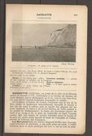 1923 SANGATTE CHEMIN DE FER DU NORD 296 KM LIGNE DE PARIS A CALAIS VILLE PUIS AUTOBUS JUSQU'A SANGATTE - Railway