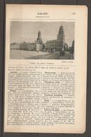 1923 CALAIS CHEMIN DE FER DU NORD 296 KM LIGNE DE PARIS A CALAIS - HOTELS TRAMS ELECTRIQUES CASINO CONSULATS - Railway