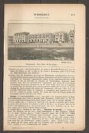 1923 WIMEREUX CHEMIN DE FER DU NORD 260 KM DE PARIS A WIMILLE WIMEREUX PAR LA LIGNE DE CALAIS - Railway