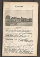 1923 QUEND PLAGE CHEMIN DE FER DU NORD LIGNE DE PARIS A BOULOGNE - HOTELS BAINS SOCIETE DE VACANCES CHASSE TENNIS - Railway