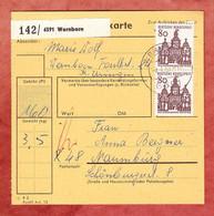 Paketkartenteil, Bauwerke, Wernborn Nach Naumburg 1967 (97653) - [7] Federal Republic