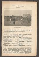 1923 FORT MAHON PLAGE CHEMIN DE FER DU NORD LIGNE DE PARIS A BOULOGNE - HOTELS BAINS CASINO AVIATION CHASSE TRAM VAPEUR - Railway