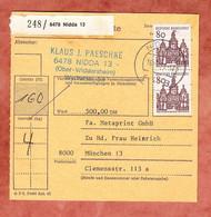 Paketkartenteil, Bauwerke, Nidda Nach Muenchen 1971 (97654) - [7] Federal Republic