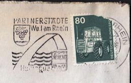 Germany Weil Am Rhein / Partnerstädte Huningue, Coat Of Arms / Machine Stamp - [7] Federal Republic