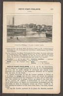 1923 PETIT FORT PHILIPPE CHEMIN DE FER DU NORD 296 KM DE PARIS A CALAIS - HOTELS OMNIBUS POSTE CINEMA - Railway