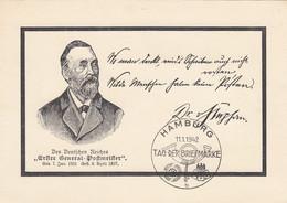 Deutsches Reich Postkarte 1942 Tag Der Briefmarke - Cartas