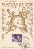 Deutsches Reich Postkarte 1942 Tag Der Briefmarke - Brieven En Documenten