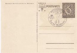 Deutsches Reich Postkarte 1940 Tag Der Briefmarke + Werbung - Cartas