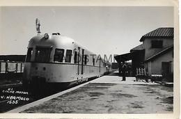 143357 ARGENTINA CORDOBA VALLE HERMOSO STATION TRAIN ESTACION DE TREN YEAR 1961 PHOTO NO POSTAL POSTCARD - Fotografía