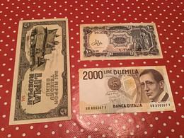 LOT 3 BILLETS VOIR LE SCAN - Banknoten
