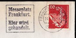 Germany Frankfurt 1981 / Messeplatz Frankfurt, Hier Wird Gehandelt. / Fair, Messe / Machine Stamp - [7] Federal Republic