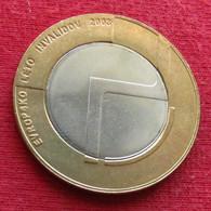 Slovenia  500 Tolar 2003 Disabled Person - Slovenia