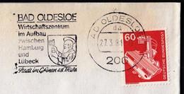 Germany Bad Oldesloe 1981 / Wirtschaftszentrum Im Aufbau Zwischen Hamburg Und Lubeck / Coat Of Arms / Machine Stamp - [7] Federal Republic
