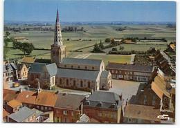 Bollezeele. Vue Aerienne - Le Centre - Eglise Notre Dame De La Visitation. - Otros Municipios