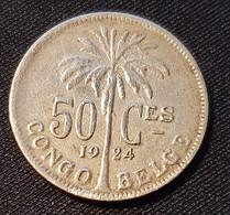 Belgian Congo 50 Centimes 1924 (FRA) - Congo (Belga) & Ruanda-Urundi
