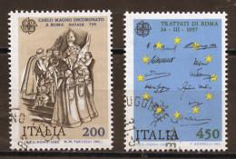 Italie - Italy - Italien 1982 Y&T N°1530 à 1531 - Michel N°1798 à 1799 (o) - EUROPA - 1981-90: Usados
