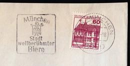Germany Munich 1981 / Beer, München Stadt Weltberühmter Biere, City Of World Famous Beers / Machine Stamp - Bières