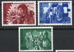 Schweiz Switzerland 1975. BIT/ILO Mi.-Nr. 105-107, Postfrisch **, MNH - Nuovi