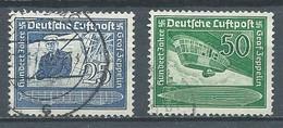 Allemagne Empire Poste Aérienne YT N°57/58 Comte F. Von Zeppelin Oblitéré ° - Airmail