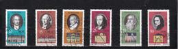 6 Timbres DDR Oblitérés  Personnages: Goethe -Wieland -Schiller- Herder- Cranach  - Liszt - Used Stamps