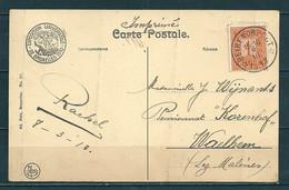 Nr 108 Op Postkaart Gestempeld (sterstempel) BEIRENDRECHT - COBA 4 Euro - 1912 Pellens