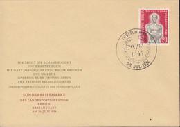 BERLIN  119, FDC, 10. Jahrestag Des Attentates Auf AH, 1954 - FDC: Covers