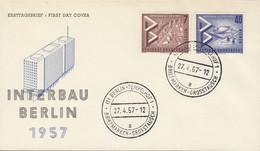 BERLIN  160+162, FDC, INTERBAU Berlin, 1957 - FDC: Covers