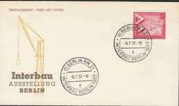 BERLIN  161, FDC, INTERBAU Berlin, 1957 - FDC: Covers