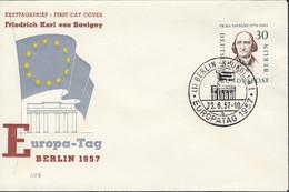 BERLIN  170, FDC, Friedrich Karl Von Savigny, 1957 - FDC: Covers