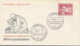 BERLIN  178, FDC, Mütter-Genesungswerk, 1957 - FDC: Covers