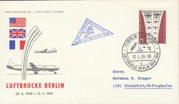 BERLIN  188, FDC, Berliner Luftbrücke, 1959 - FDC: Covers