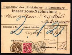 58B + 61B Auf Inserations-Nachnahme Vom Fricktaler In Laufenburg - Covers & Documents