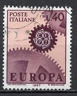 Italie - Italy - Italien 1967 Y&T N°968 - Michel N°1224 (o) - 40l EUROPA - 1961-70: Used