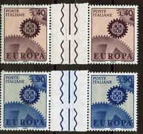 Europa CEPT 1967 Italie - Italy - Italien Y&T N°968 à 969 - Michel N°1224 à 1225 *** - Interpanneau - 1967