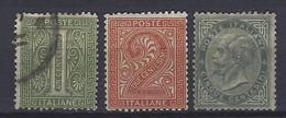 Italië     Y/T   12 + 13 + 14 (O) - 1861-78 Vittorio Emanuele II