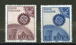 Italie - Italy - Italien 1967 Y&T N°968 à 969 - Michel N°1224 à 1225 *** - EUROPA - 6. 1946-.. Republic
