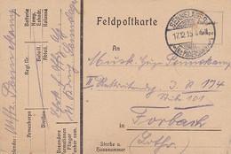 Feldpostkarte - Sennelager Nach Forbach Lothringen - 1915 (52041) - Covers & Documents