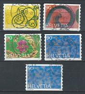 XX-/-1051.- YVERT N° 1517/20 + 1520a,  OBL. - TTB - COTE 6.50 € - IMAGE DU VERSO SUR DEMANDE - Switzerland
