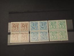 BELGIO - 1978/80 LEONE 3 VALORI, In Quartine - NUOVI(++) - Bélgica