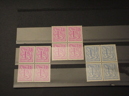 BELGIO - 1977 LEONE 2 + 1 VALORI, In Quartine - NUOVI(++) - Bélgica