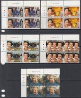 1992 Kenya QEII Accession Anniversary Complete Set Of 5 In Attractive Corner  Blocks MNH - Kenya (1963-...)