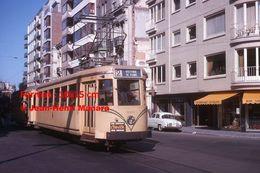 Reproduction D'unePhotographie D'un Tramway SNCV Ligne 2 Oostende De Panne Avec Publicité Côte D'Or à Oostende En 1964 - Reproductions