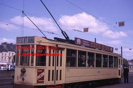 ReproductionPhotographie D'un Tramway Ligne 81 Eeuwfeest Avec Pubs Chocolat Côte D'or Et Picon à Bruxelles En 1963 - Reproductions
