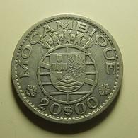 Portuguese Moçambique 20 Escudos 1955 Silver - Portugal