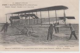 CPA Angers - Circuit D'Anjou - 1er Grand Prix D'Aviation ... Départ De Labouret Sur Son Navire Aérien, Biplan Astra, ... - Angers