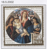 POLAND 2002 Mi 3973 National Museum In Warsaw, Sandro Boticelli Madonna, Child, St. John, Angel Art MNH** - Museums