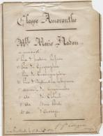 Toulouse,1871, Monastère Des Feuillants, Distribution Des Prix, Classe Amaranthe, Marie, Nadau, Sainte Marie Des Champs - Diploma's En Schoolrapporten